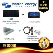 100W Solar panel kit 12v Dual Controller For Campervan/Caravan/Boat