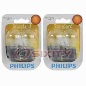 2 pc Philips Front Turn Signal Light Bulbs for Cadillac DeVille 2000-2003 nz