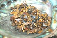 4 Ounces Gold Tiger Eye Chips 6-10mm Tumbled Stones Reiki Healing Crystals