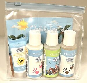 Childs Farm Summer Essentials Kit SPF 50+ Sun Cream Swim Hand Wash Vegan -