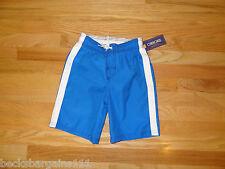 New Cherokee Boys Swim Suit Shorts Blue White XS 4/5 Polyester NWT