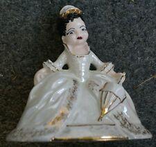 Vintage Victorian Lady w/ Umbrella Ceramic Figurine OLGA Holland Mold