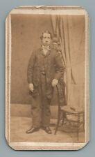 YOUNG MAN, TEENAGER BOY, VICTORIAN CDV PHOTO