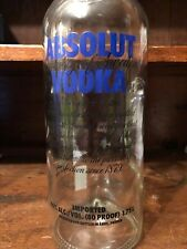 ABSOLUT VODKA Empty Liquor Bottle Glass Large 1.75L