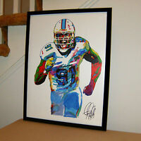 Cameron Wake Miami Dolphins Defensive End Football Poster Print Wall Art 18x24