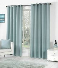 Rideaux et cantonnières bleus pour la maison, en 100% coton