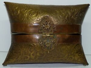 Vintage Arts & Crafts Brass and Copper Woman's Evening Purse Bag, W 17.5cm