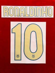 2006/07 FC Barcelona #10 RONALDINHO Home Soccer Name set