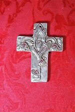 Vintage Ala Carte 144 Mexico Metal Cross Floral Rose Pendant Buffy Vampire Slaye