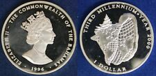 Bahamas 1 Dollar 2000 Third Millenium Year 2000 Argento #1526