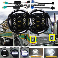 7'' Round LED Headlights Hi/Low Beam DRL H4 H13 For Mack DM RM RW RS RL CF Truck