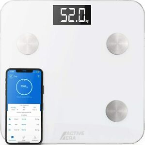Active Era® Smart Bluetooth Body Fat Bathroom Scales | iPhone, Android, iOS App