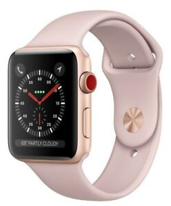 Apple Watch Series 3 38mm Rose Gold Case Pink Sand Sport Band GPS + Cellular
