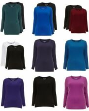 Evans Cotton Scoop Neck Patternless Tops & Shirts for Women