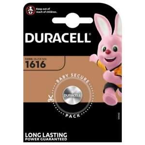 Pile CR1616 Duracell Bouton Lithium 3V