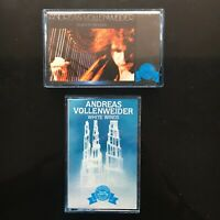 ANDREAS VOLLENWEIDER White Winds / Down To The Moon 1986 2 CASSETTE TAPES LOT