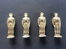4 Vintage John Hill & Co Lead Soldiers Infantry Stood to Attention with Rifles
