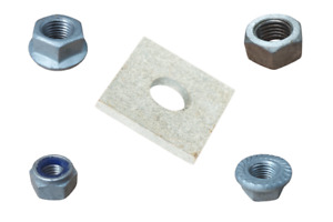 HDG Nuts & Fixings - Hex / Flange / Nyloc / Square Washers M6 M8 M10 M12 M16