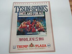 1988 Trump Plaza MIKE TYSON MICHAEL SPINKS Official Program!