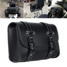 Black PU Tool Side Saddle Bag For Yamaha Virago XV 250 500 535 700 750 920 1100