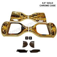 "GOLD CHROME 6.5"" Skateboard parti in plastica Shell swegway caso 6.5 pollici Cornice UK"