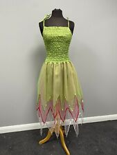 Tinkerbell Green Layered Fairy Dress With Wings OS Cosplay Fancy Dress Costume