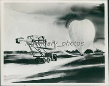 Drawing of Missile Connected to Large Balloon Original Photo
