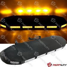 31 inch Amber Magnet Emergency Warn Hazard Security Strobe LED Light Bar Roof