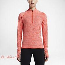 Nike Sphere Element Women's Half Zip Long Sleeve Running Top XS Orange Gym New