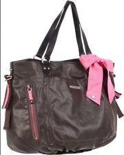 Juicy Couture Wanderlust hand bag shoulder brown black mushroom canvas leather