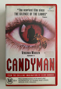 Candyman [VHS] First Release Video 1992 Ex-Rental Tape Clive Barker Horror!