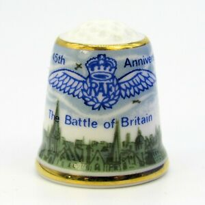 SUTHERLAND COLLECTABLE THIMBLE '45TH ANNIVERSARY, BATTLE OF BRITAIN' FROM 1985