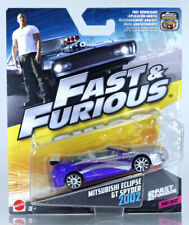 Fast furious MITSUBISHI ECLIPSE GT SPYDER 2002 MATTEL 1:55 NOT hot wheels