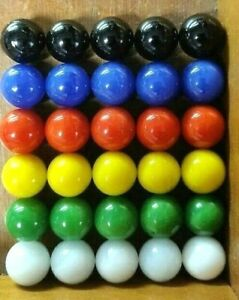 """30 Replacement Marbles for Chinese Checkers Aggravation Games Glass 9/16"""" 14mm"""