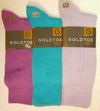 GoldToe Men Socks, Rayon Rib Style 2733F, 3 Pairs Dress Fashion Color Assortment