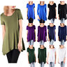 Womens Plus Size 3/4 Sleeve Tunic Tops Casual Stretchy Loose Basic Shirt Blouse