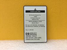 HP / Agilent 08590-10027 EMC Setups, Limit Lines, Correction Measurements Card.