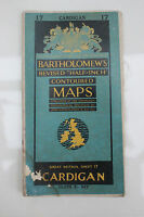 "Vintage BARTHOLOMEW'S CARDIGAN 1954 Linen 1/2"" Map Sheet 17"