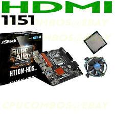 COMBO Intel G3930 DUAL CORE LGA1151 CPU+ASRock H110M-HDS R3.0 HDMI Motherboard