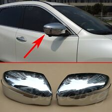 Side Mirror Cover For Nissan Murano XTrail Rogue Qashqai T32 J11 Rearview Chrome