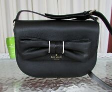Kate Spade Adelaide Rosewood Place Black Bow Leather Crossbody Shoulder Bag NWT