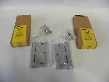 """4"" NOS Stanley 05-0484 F179 3 1/2 X 3 1/2  Satin Brushed Steel Door Hinge (A5)"