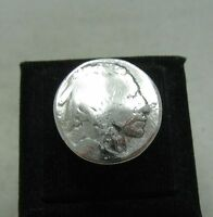 VINTAGE STERLING SILVER RING CHIEF FIVE CENTS USA SOLID 925 NEW SIZE 3.5 - 13