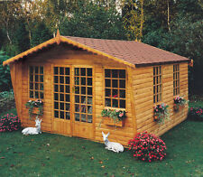 Garden Wooden Summerhouse 'Beaulieu' 12'x12' in 12x120mm T&G or 19x114mm Loglap