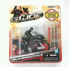 Hasbro G.I. JOE RETALIATION NINJA SPEED CYCLE Vehicle with SNAKE EYES Figure