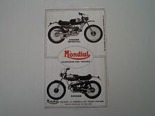 advertising Pubblicità 1972 MOTO MONDIAL CROSS/CROSS SPECIAL