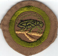 BOY SCOUT INSECT LIFE WIDE CRIMPED MERIT BADGE (TYPE B) LIGHTLY SEWN