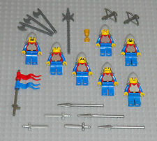 LEGO Minifigures 7 Knights Lot Castle Guys Toys Swords Weapons Lego Minifigs