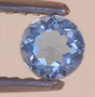 loose natural gemstones .24ct blue topaz 3.85 x 2.31mm round shape vintage