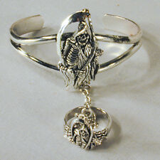 GRIM REAPER SLAVE BRACELET #41 jewelry item new RING mens or womens silver skull